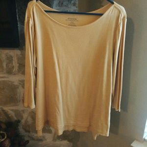 Chico's The Ultimate Tee Sz 3/XL Peach